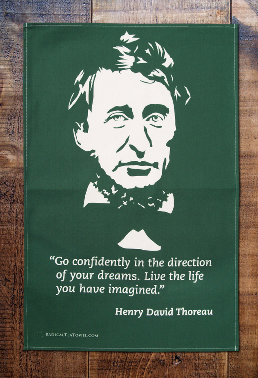 Henry David Thoreau Tea Towel