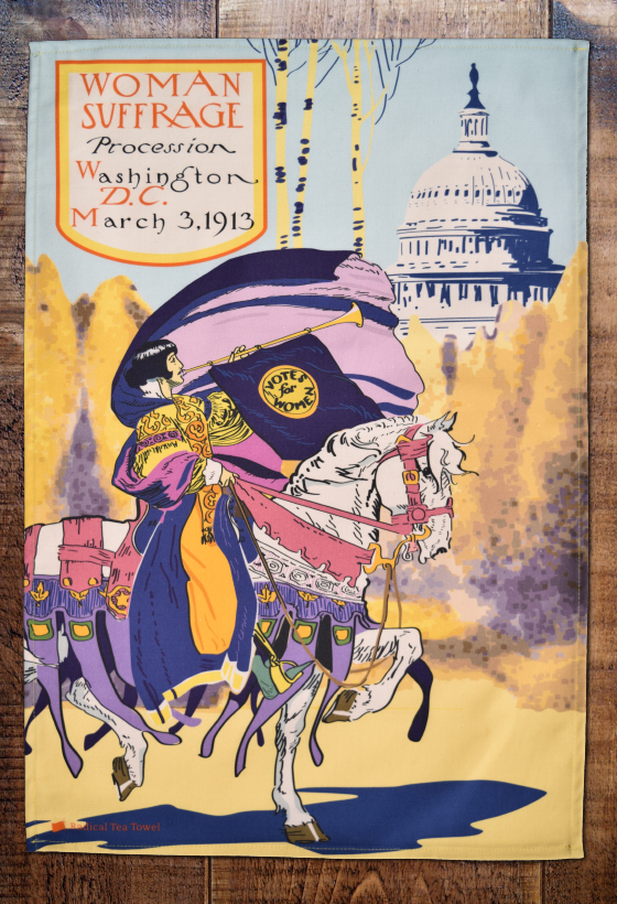 Washington DC Suffrage Procession Tea Towel